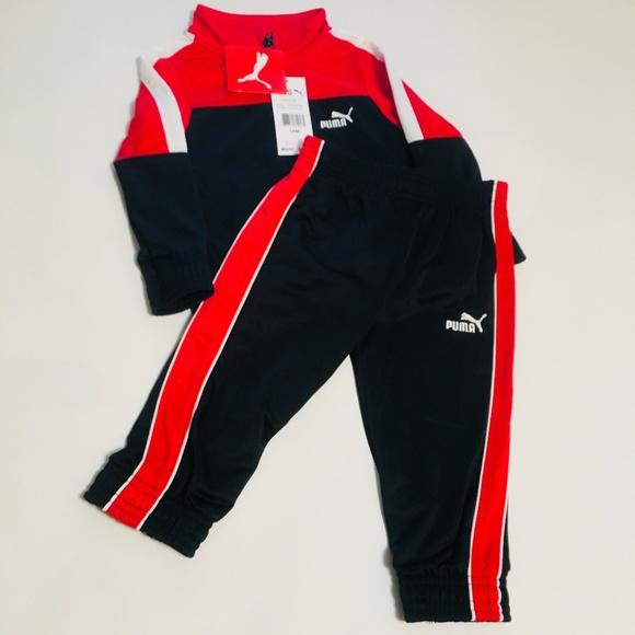 ef6c0e784134 Puma Infant Boys Jacket   Pant Warm Up Set